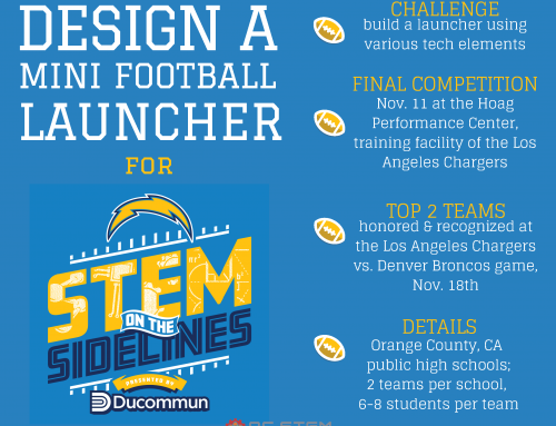 #STEMonTheSidelines Challenge, by Ducommun Inc. and the Los Angeles Chargers